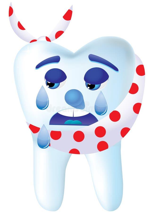 Dent pleurante illustration stock
