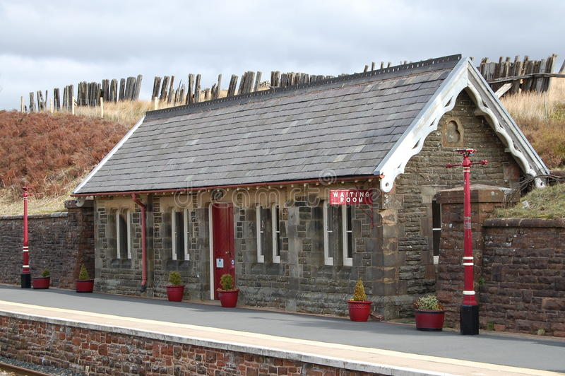 Dent station waiting room. The Settle-Carlisle railway is a scenic route through the Yorkshire Dales. Dent station is the highest station on the National Rail royalty free stock photos