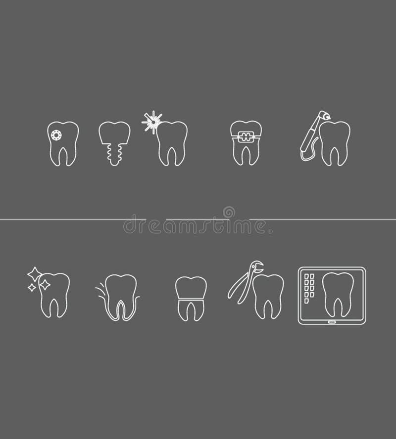Dent_stomatology_Icon illustrazione di stock