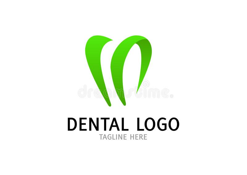 Dentaire, art dentaire, calibre abstrait de conception de Logo Tooth de clinique de dent illustration stock