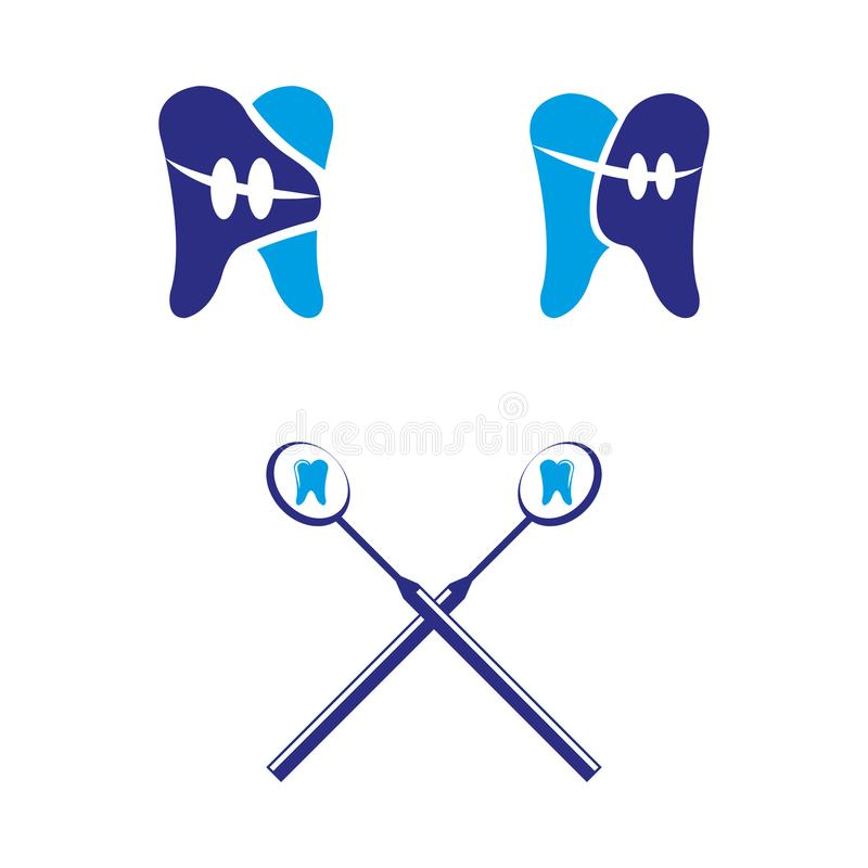 11 dentaires illustration de vecteur