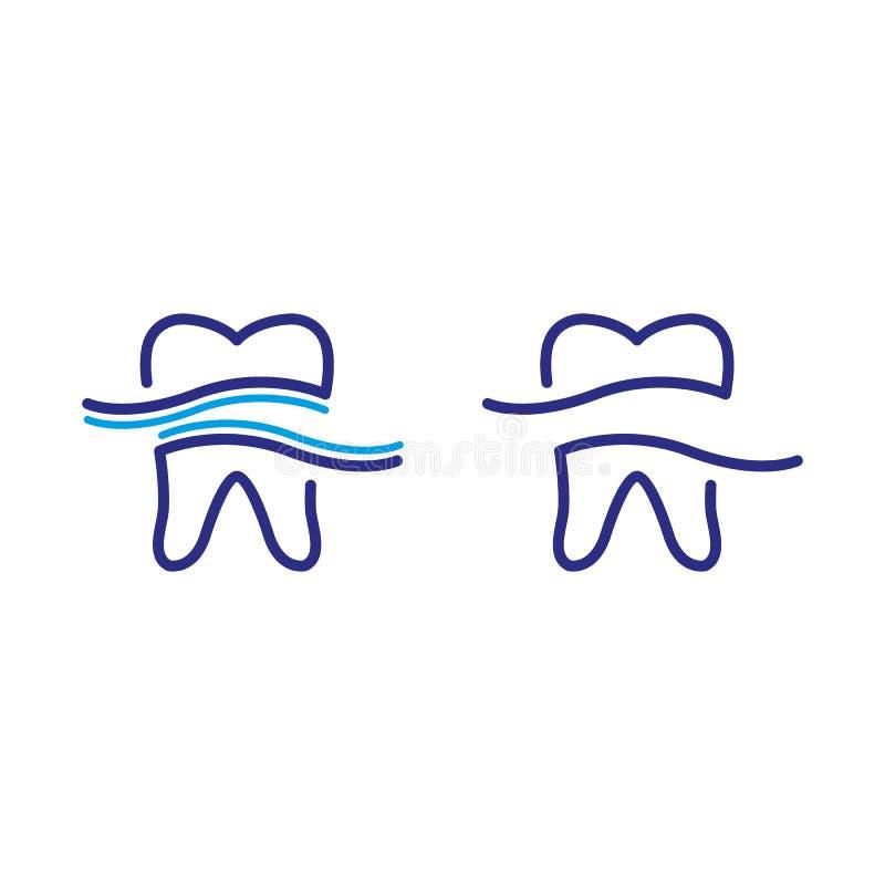 16 dentaires illustration stock
