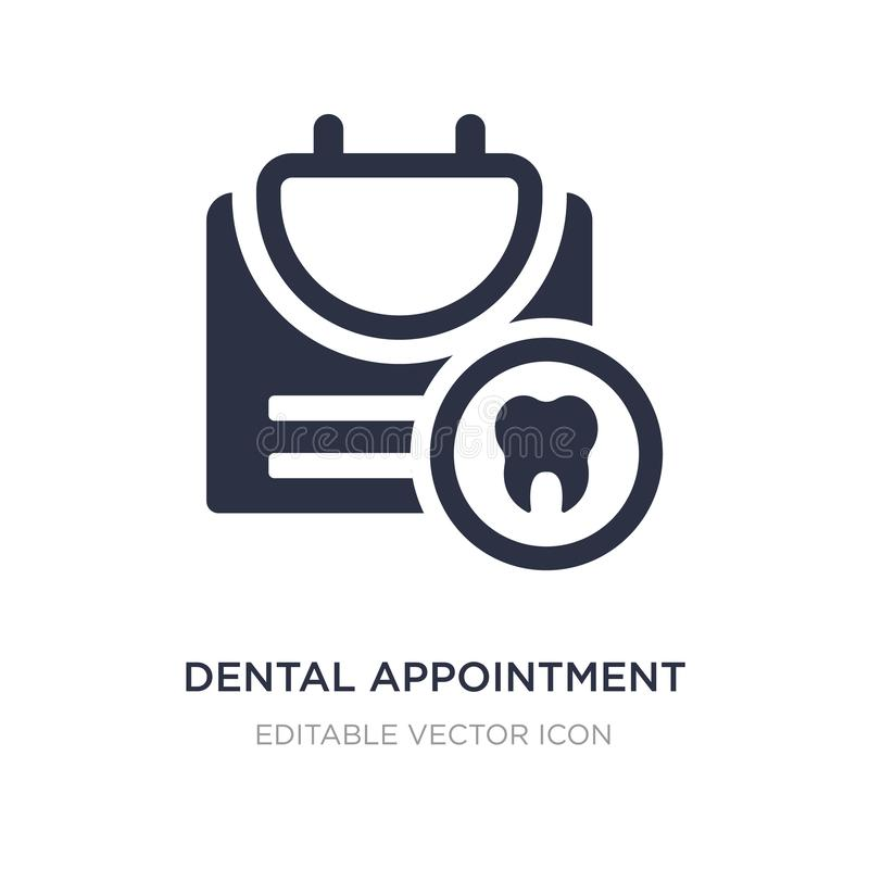 dental appointment icon on white background. Simple element illustration from Dentist concept vector illustration
