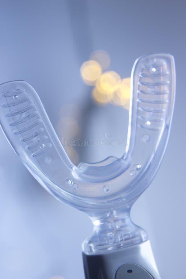 Dental bracket aligner vibrator. Dental bracket aligner accelerator vibrator for orthodontic straighteners, brackets and aligners stock photo