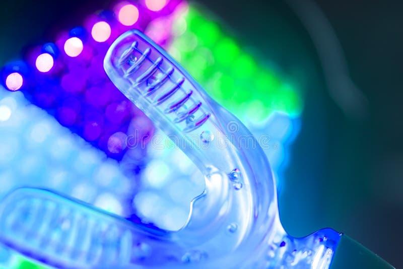 Dental bracket aligner vibrator. Dental bracket aligner accelerator vibrator for orthodontic straighteners, brackets and aligners stock images