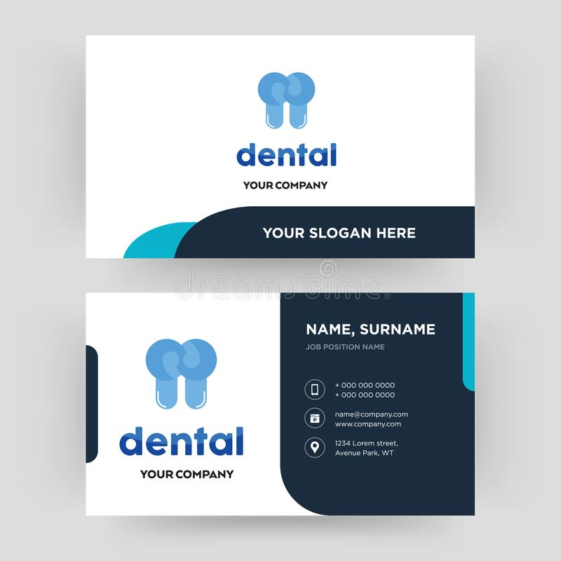 Dental business card design template visiting for your company download dental business card design template visiting for your company stock photo image of reheart Choice Image