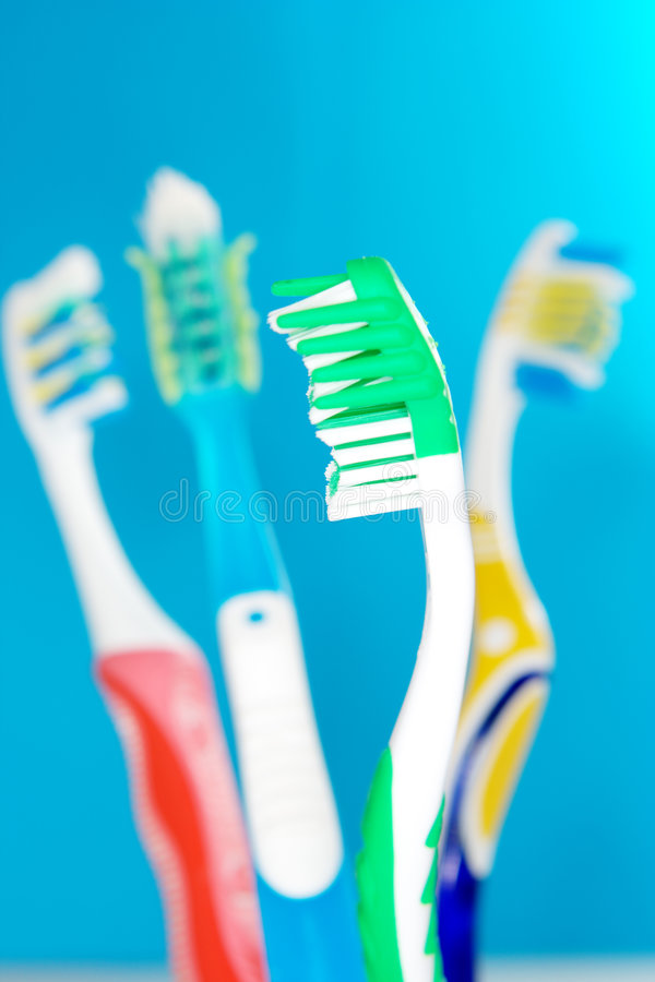 Dental care. Equipment on white royalty free stock images