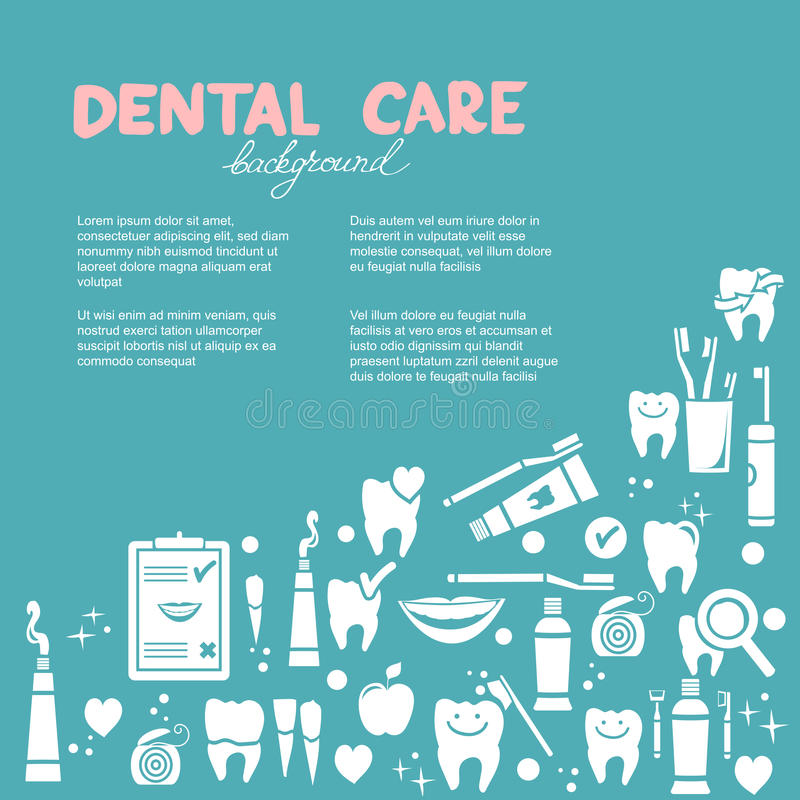 Dental care background royalty free illustration