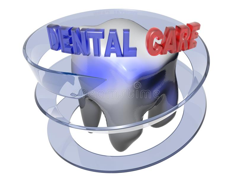 Dental care - 3D rendering stock illustration