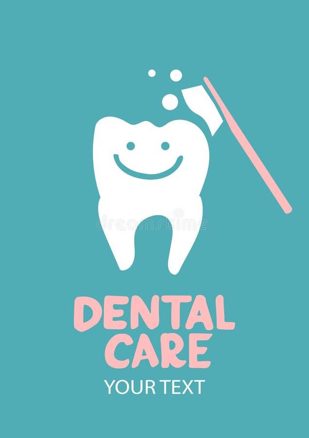 Dental care design concept royalty free illustration