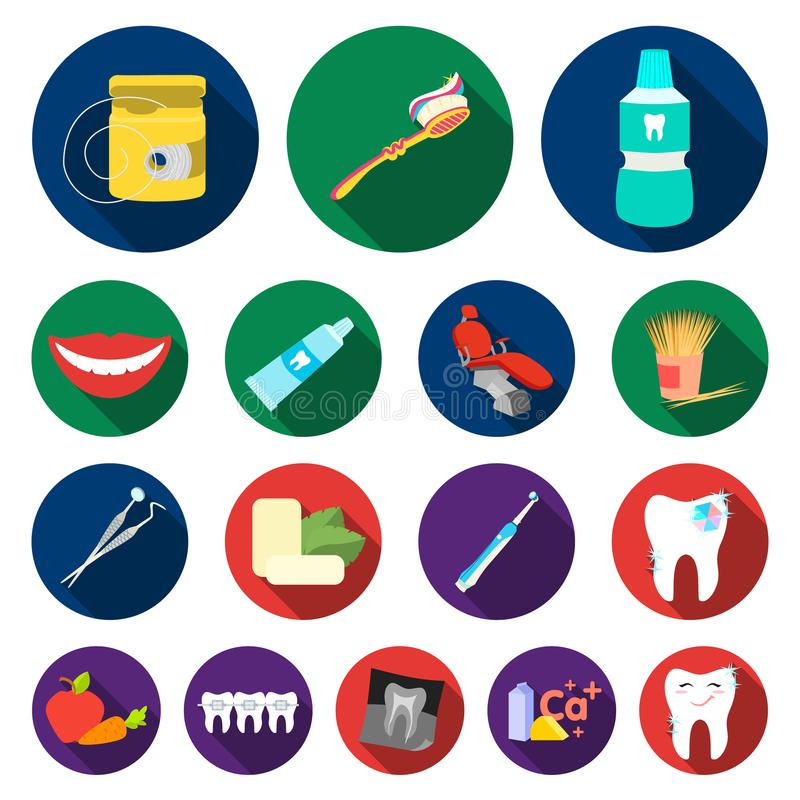 Dental Care Flat Icons In Set Collection For Design Care Of Teeth