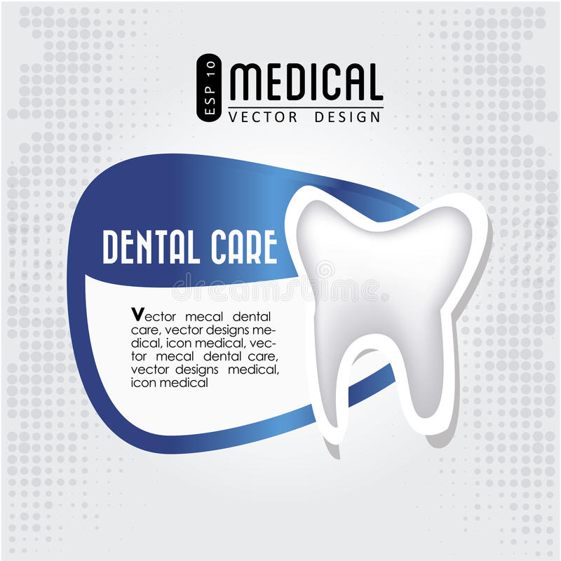 Dental care icon royalty free illustration