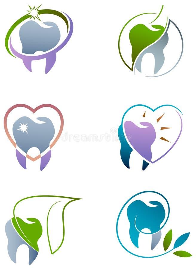 Dental care. Illustrate icon-logo set vector illustration
