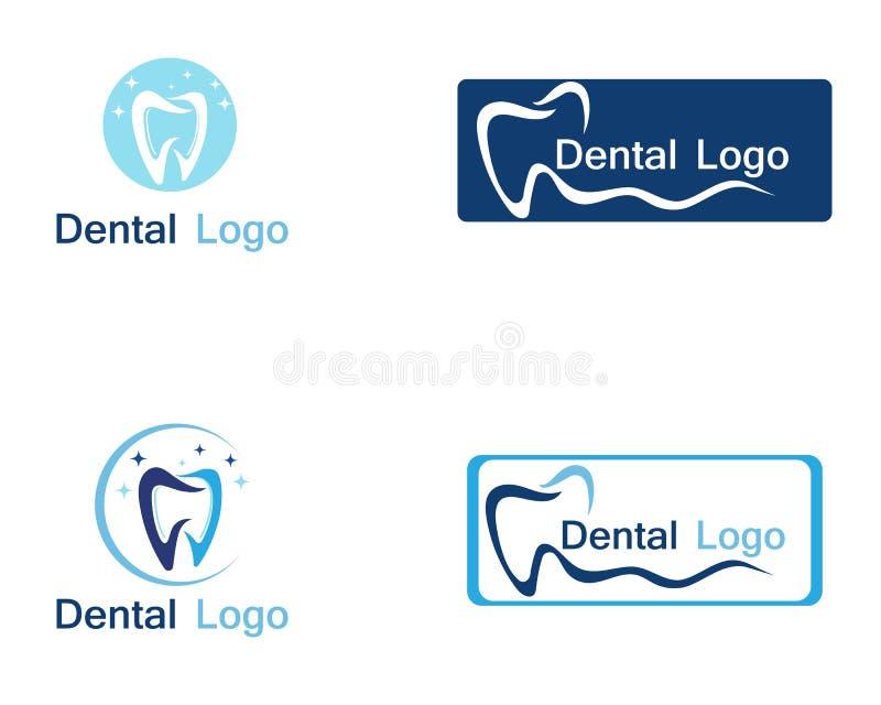 Dental care logo and symbol. Vector royalty free illustration