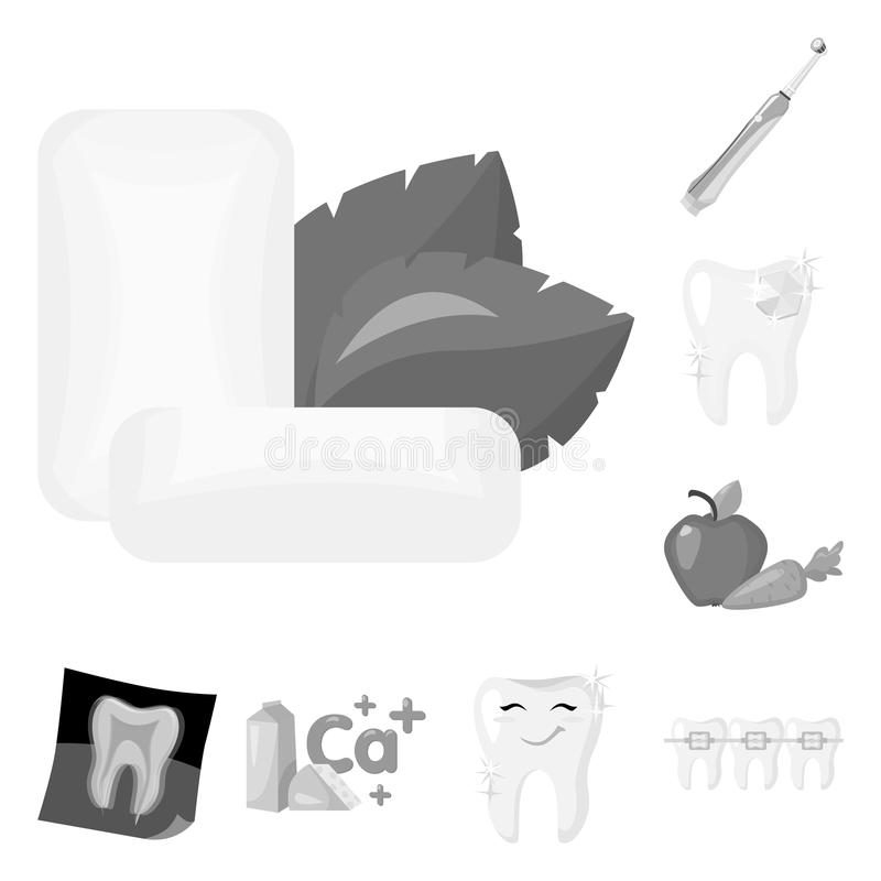 Dental Care Monochrome Icons In Set Collection For Design Care Of