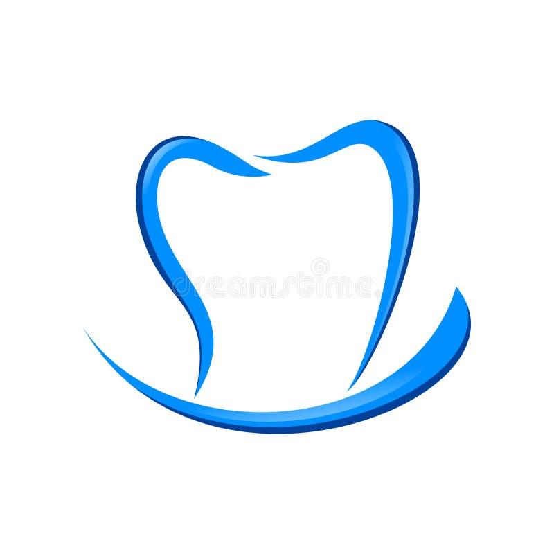Dental Care Smile Blue Symbol Logo Design. Dental Care Smile Blue Vector Symbol Graphic Logo Design stock illustration
