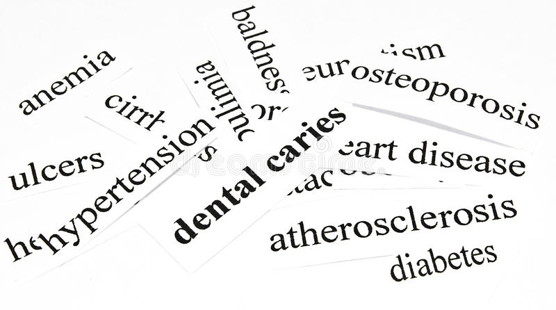 Dental caries.Health care concept of diseases caused by unhealthy nutrition. Health care concept of diseases caused by unhealthy nutrition stock photography