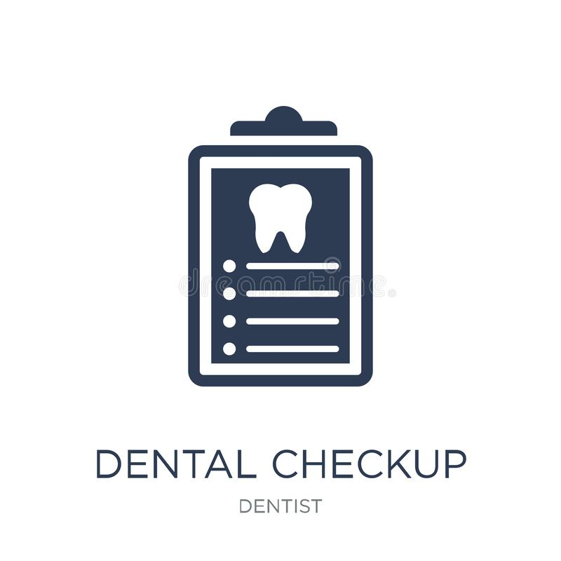 Dental Checkup icon. Trendy flat vector Dental Checkup icon on w. Hite background from Dentist collection, vector illustration can be use for web and mobile stock illustration