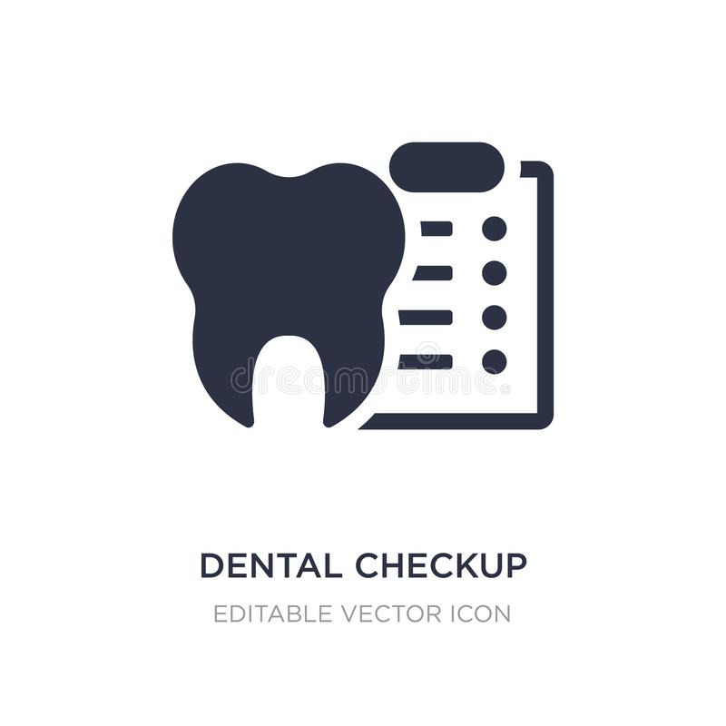 Dental checkup icon on white background. Simple element illustration from Dentist concept. Dental checkup icon symbol design royalty free illustration