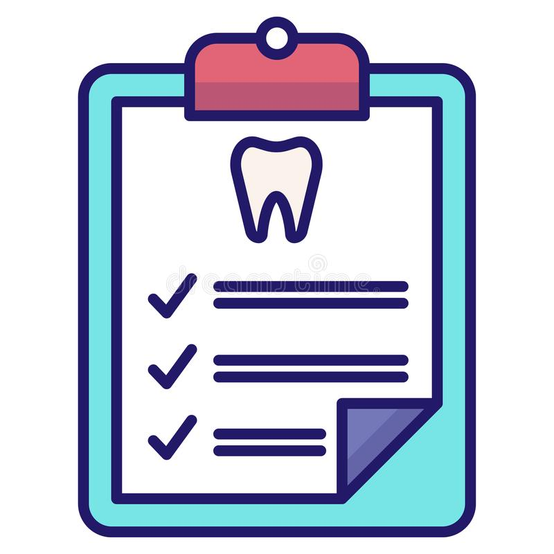 Dental checkup LineColor. Dental checkup vector illustration in LineColor design vector illustration