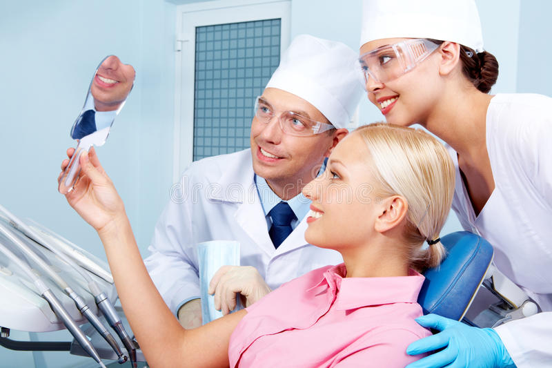 In dental clinic stock photography