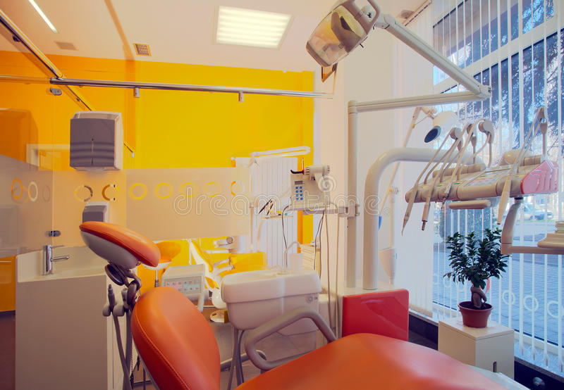 Dental Clinic. Interior of a dental clinic, simple and modern minimal design royalty free stock image