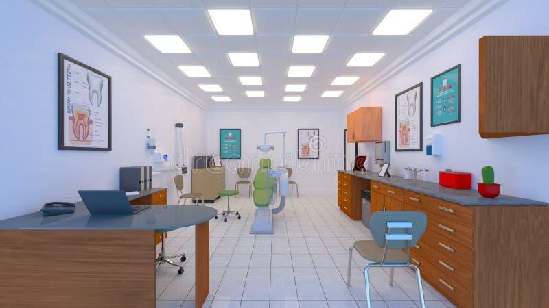 Dental clinic royalty free illustration