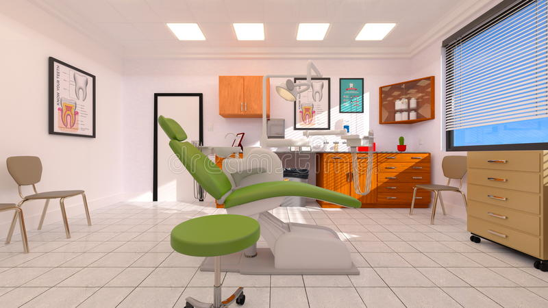 Dental clinic. 3D CG rendering of the dental clinic vector illustration