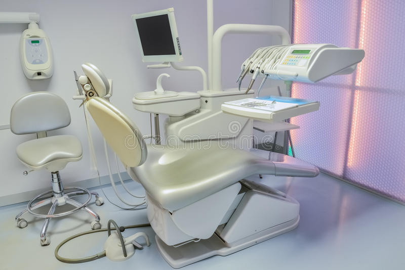 Dental clinic. Equipment in the dental clinic royalty free stock photos