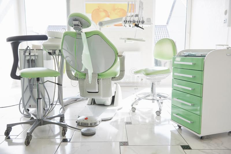 Dental Clinic Interior Design With Chair And Tools All