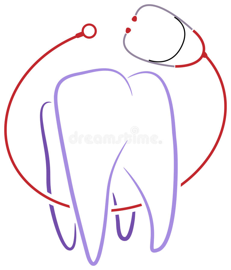 Dental clinic logo vector illustration