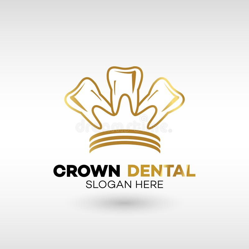 Dental Clinic Logo Tooth abstract дизайн шаблон золотой кроны стиль бесплатная иллюстрация