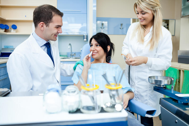 Download At dental clinic stock photo. Image of doctor, clinical - 30942916