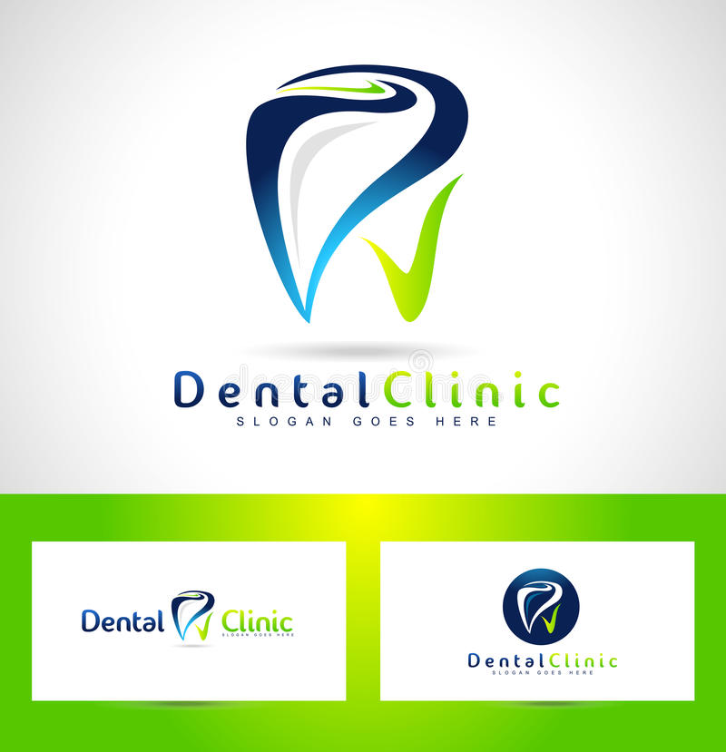 Dental Dentist Logo Design royalty free illustration