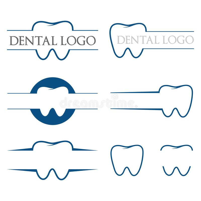 Dental Dentist Medical Simple Clean Logo Template Isolated stock illustration