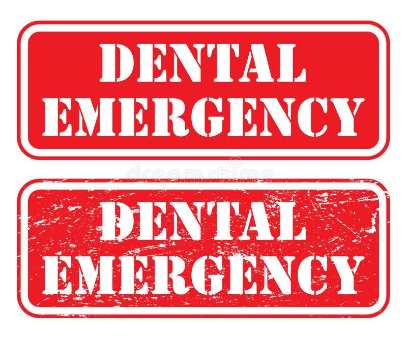 Dental Emergency Stamp royalty free illustration