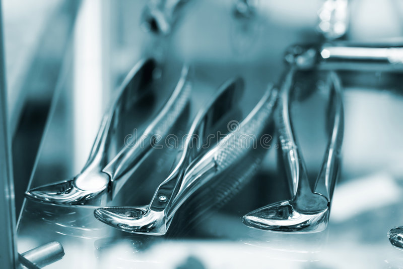 Dental equipment. Low DOF, special toned photo f/x, iso 200 stock images