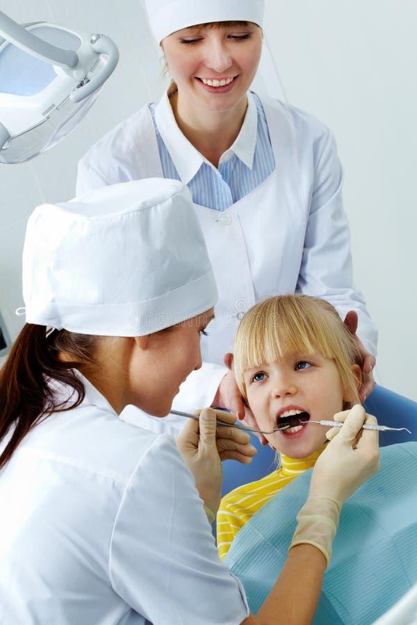 Dental examination royalty free stock image