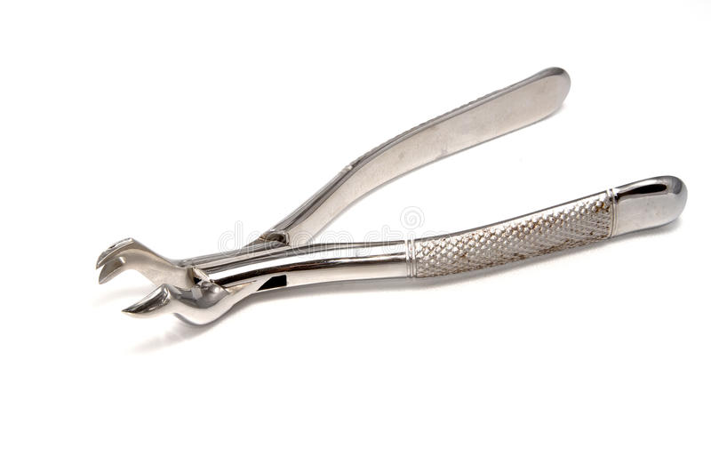 Dental extraction forceps stock image