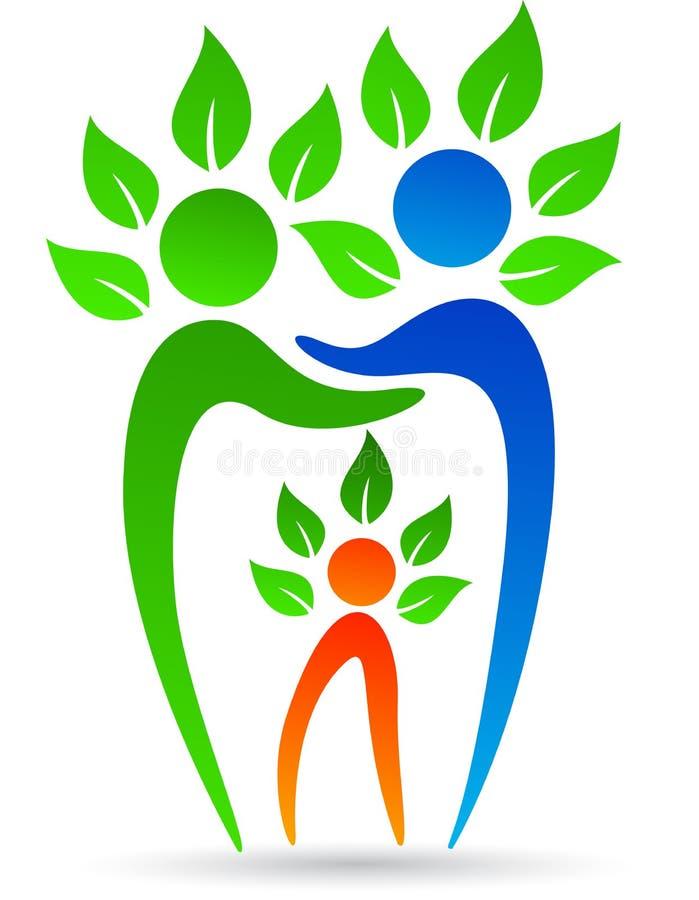 Dental family tree. Illustration of dental family tree design isolated on white background royalty free illustration