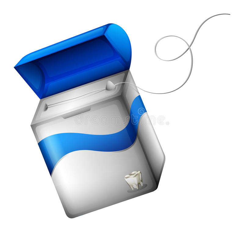 Dental floss. Illustration showing a dental floss on a white background royalty free illustration