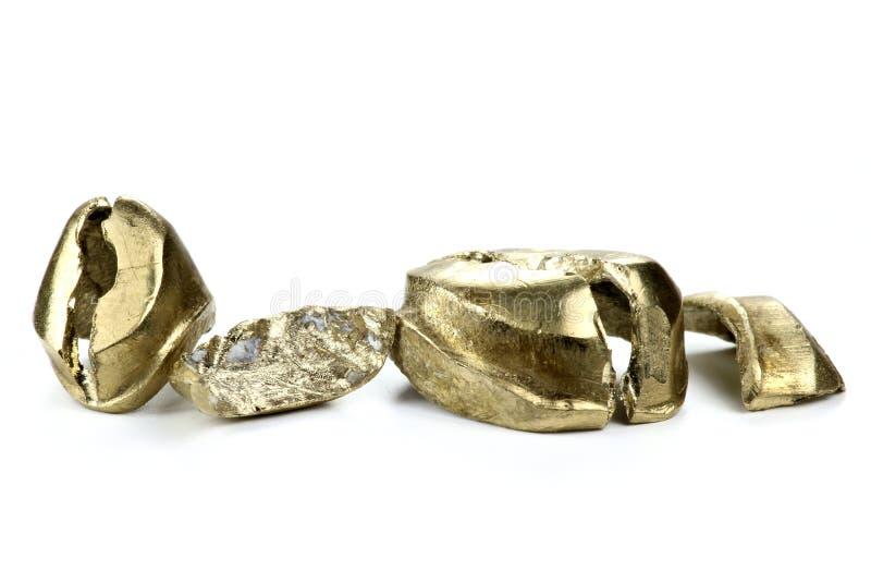 Dental gold. On white background stock image