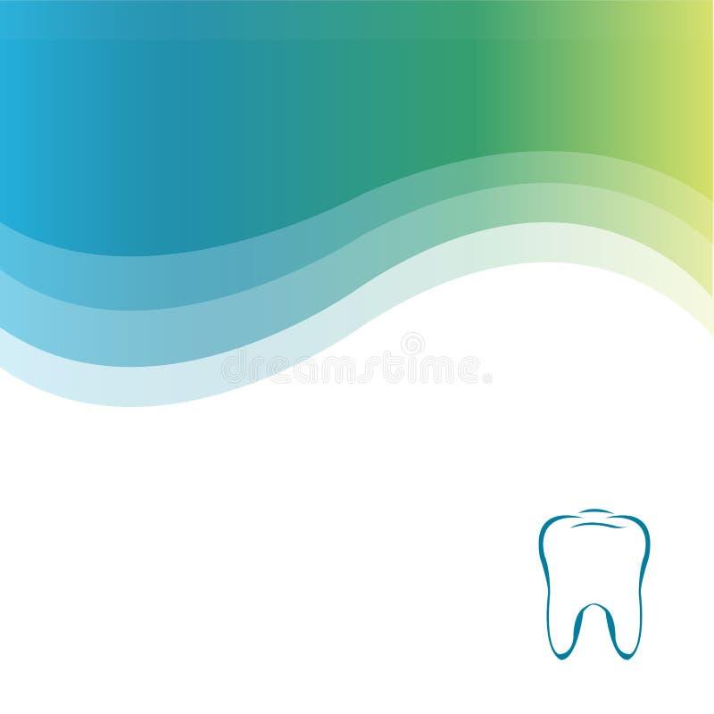 Dental Green Background. Vector stock illustration