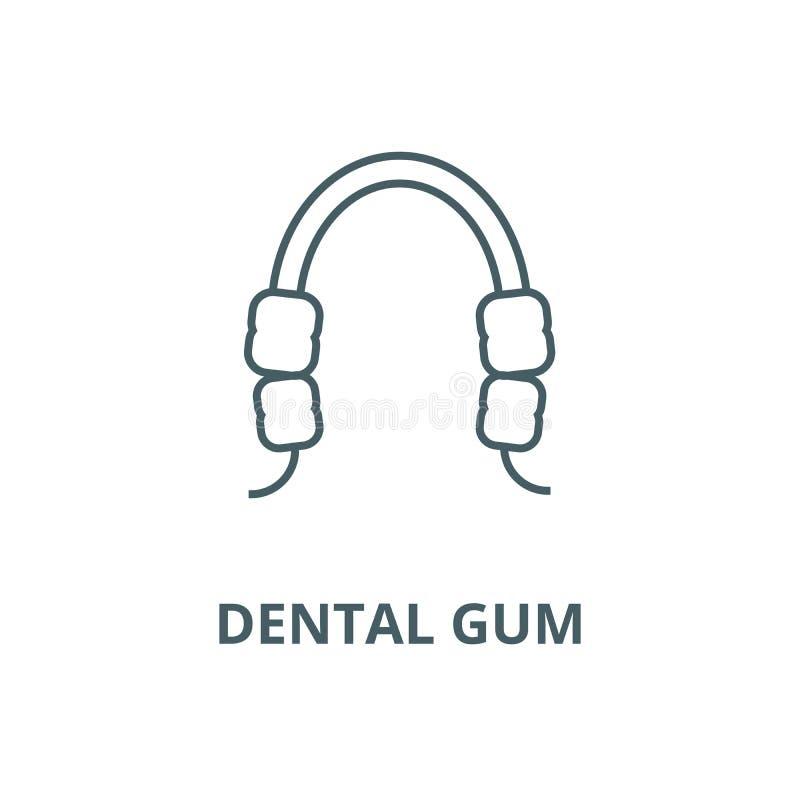 Dental gum line icon, vector. Dental gum outline sign, concept symbol, flat illustration royalty free illustration
