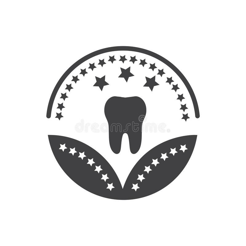 Dental healthcare or medical award icon- vector healthcare sign stock illustration