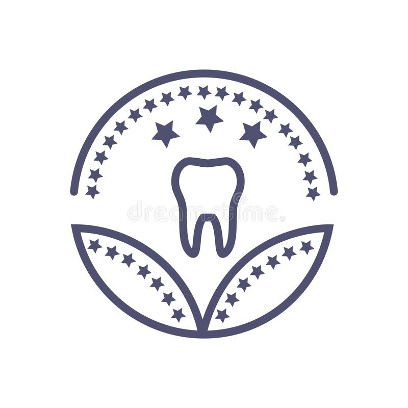 Dental healthcare or medical award icon- vector healthcare sign royalty free illustration