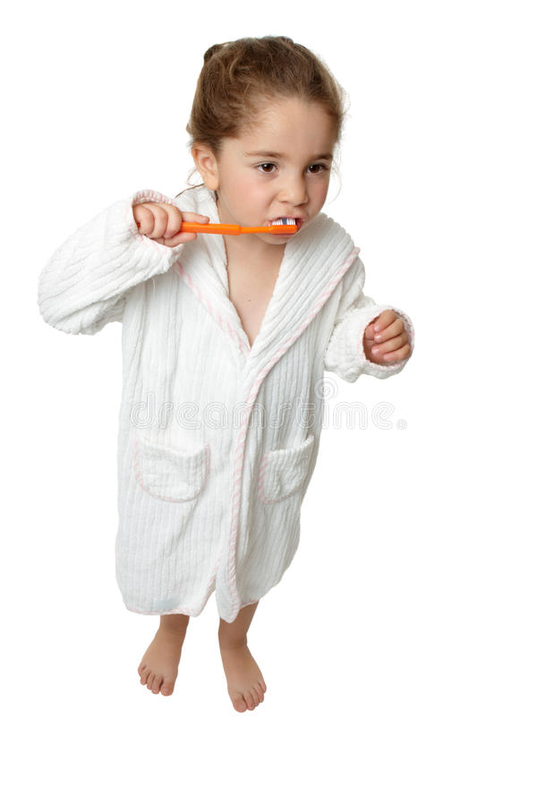 Download Dental Hygiene - Girl Brush Teeth With Toothbrus Stock Photo - Image: 10192350