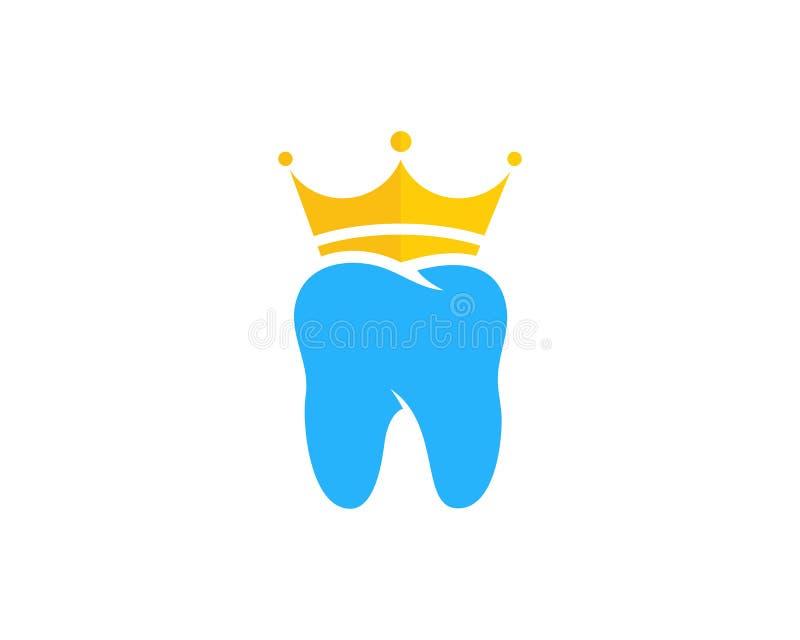 Dental Icon Logo Design国王元素 向量例证