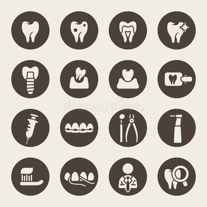 Dental icon set.  vector illustration