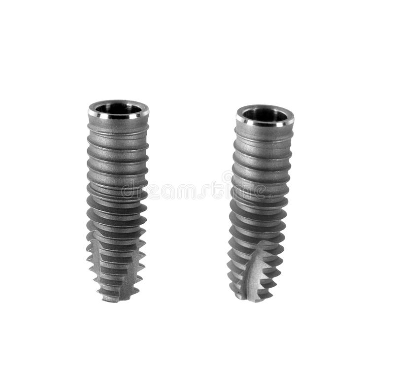 Dental Implant Isolated On White Royalty Free Stock Images